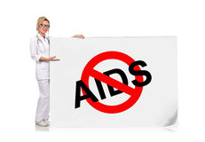 Poster  with stop aids Stock Photography