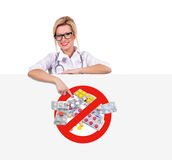 Poster with stop drugs Stock Photo
