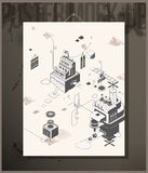 Poster- Story Factory vector illustration
