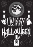 Poster in the style of drawing with chalk on a Halloween theme Royalty Free Stock Photos