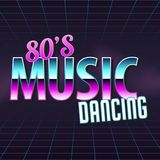 Poster in style 80 s. The poster in vintage style on a retro party banner, invitation, flyer, advertising. Vector illustration of retro disco and dance. Other royalty free illustration