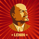 Poster stylized Soviet-style. The leader of the USSR. Russian revolutionary symbol.  Royalty Free Stock Image