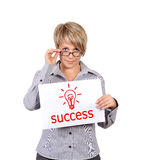 Poster with success Royalty Free Stock Images