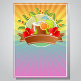 Poster summer. Poster for summer event Royalty Free Stock Image