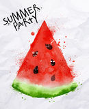 Poster summer party watermelon Stock Photos