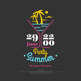 Poster Summer perty Royalty Free Stock Image