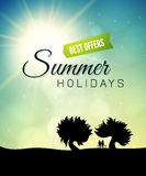 Poster summer theme, healthy life style Royalty Free Stock Photography
