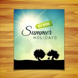 Poster summer theme, healthy life style Royalty Free Stock Photo