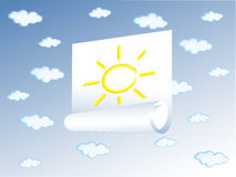 Poster of sun Stock Images