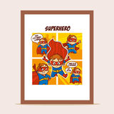 Poster Superheroes in the city. Vector Illustration Royalty Free Stock Photo