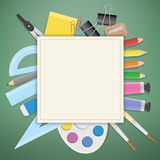 Poster Supplies stationery an extensive range of study or office Stock Images