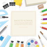 Poster Supplies stationery an extensive range of study or office Royalty Free Stock Photos
