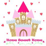 Poster with sweet home princess - vector, illustration, eps royalty free illustration