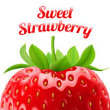 Poster sweet strawberries Royalty Free Stock Photos