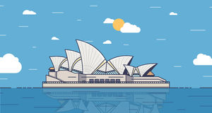 Poster with Sydney, Australia city landmark Stock Photos