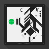 Poster template with abstract elements on square format Royalty Free Stock Photography