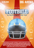 Poster Template of American Football Helmet Royalty Free Stock Image