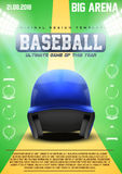 Poster Template of Baseball Royalty Free Stock Images