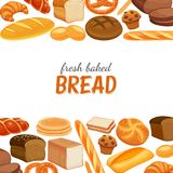 Poster template with bread Royalty Free Stock Images