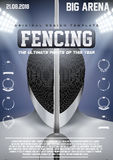Poster Template of Fencing Stock Photos