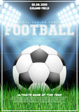 Poster Template of Football Tournament Royalty Free Stock Photography