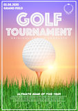 Poster Template of Golf Tournament Vector Illustration