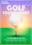 Poster Template of Golf Tournament Royalty Free Stock Photography