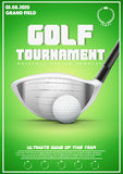 Poster Template of Golf Tournament Royalty Free Stock Photos