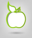 Poster template. green apple. Creative poster template. green apple Royalty Free Stock Photo