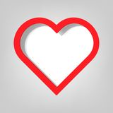 Poster template. heart. Creative poster template. red heart Stock Images