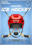Poster Template of Ice Hockey Tournament. Cup and Trophy Games. Advertising. Sport Event Announcement. Vector Illustration Stock Photography