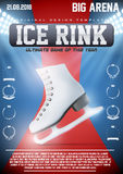 Poster Template of Ice Skating Rink Royalty Free Stock Photo