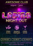 Poster template for ladies night out Royalty Free Stock Photos