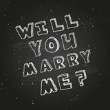 Poster template for marriage proposal design Stock Images