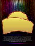Poster Template with retro banner.  Design for presentation, con Stock Photo