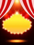 Poster Template with retro casino banner. Design for presentati Royalty Free Stock Images