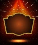 Poster Template with retro casino banner.  Design for presentati Stock Image
