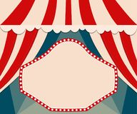 Poster Template with retro circus banner. Design for presentatio Royalty Free Stock Images