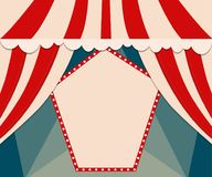 Poster Template with retro circus banner. Design for presentatio Royalty Free Stock Photography