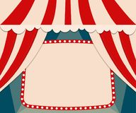 Poster Template with retro circus banner. Design for presentatio Royalty Free Stock Image