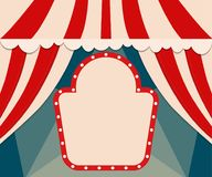 Poster Template with retro circus banner. Design for presentatio Stock Images