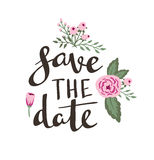 Poster template - save the date. Wedding, marriage, save the date, Valentine's day. Stock Photography