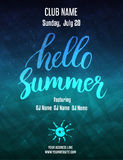 Poster template for summer party Stock Images