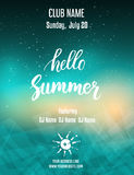Poster template for summer party Royalty Free Stock Photo