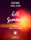 Poster template for summer party Stock Photos