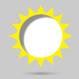 Poster template. sun. Creative poster template. yellow sun Stock Images