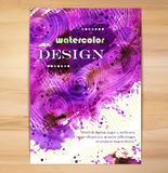 Poster Template with Watercolor Splash Royalty Free Stock Images