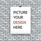 Poster template for your design. Royalty Free Stock Photography