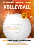 Poster template for your volleyball design with sample text royalty free illustration