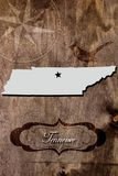 Poster Tennessee state map outline Royalty Free Stock Photography